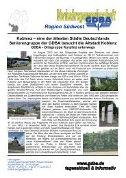 Koblenz – eine der ältesten Städte Deutschlands Seniorengruppe der