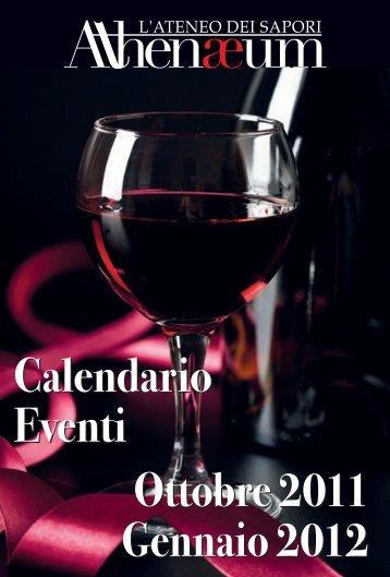 Calendario Eventi Ottobre 2011 Gennaio 2012 Ottobre 2011 ...