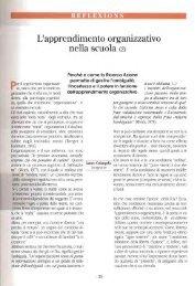 L'apprendimento organizzativo nella scuola (2) / Lauro Colangelo