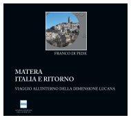 Matera Italia e ritorno - Consiglio Regionale della Basilicata