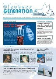 Evangeliumskirche «Glaubensgeneration