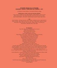 Presentazione - Relazione Socio-Economica e Territoriale del ...