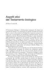 Aspetti etici del Testamento biologico - Edizioni Studium