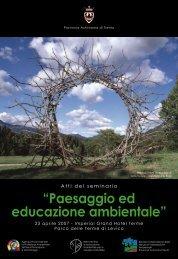 """""""Paesaggio ed educazione ambientale"""" - Agenzia provinciale per la ..."""