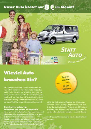 Ich habe80 Autos! - StattAuto Lübeck