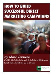 HOW TO BUILD SUCCESSFUL DIRECT MARKETING CAMPAIGNS