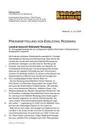 Landrat besucht Edelstahl Rosswag