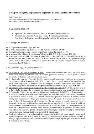 Ferrannini - Associazione Italiana di Psicogeriatria