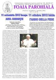 Foaia parohială. An 2. Nr 6/2012 - bru-italia.eu