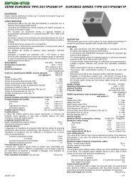serie eurobox tipo ds11p/dsm11p eurobox series type ... - Brahma spa
