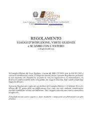 REGOLAMENTO VIAGGI E SCAMBI - deliberato - Liceo Pigafetta