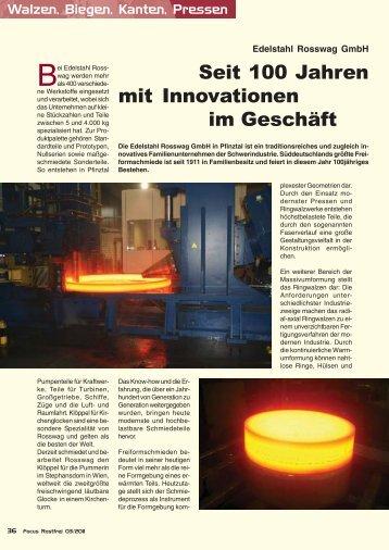 aktuellen Ausgabe 3/2011 von Focus Rostfrei - Edelstahl Rosswag