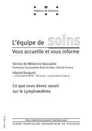 Ce que vous devez savoir sur le lymphoedème - CHU Toulouse