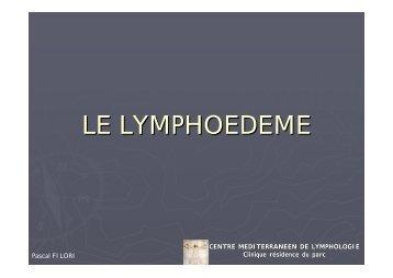 LE LYMPHOEDEME