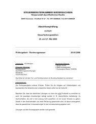 Steuerberaterkammer Niedersachsen Abschlussprüfung