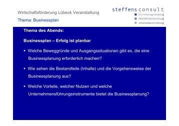 Businessplan - Steffensconsult