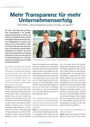 Mehr Transparenz für mehr Unternehmenserfolg - Team Steffen AG