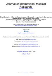 Direct Detection of Bordetella pertussis and Bordetella parapertussis ...