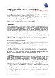 LightMix Kit Bordetella pertussis and parapertussis - Roche Applied ...