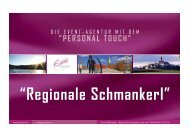 PERSONAL TOUCH - Event Marketing Agentur am Starnberger See ...