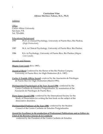 Curriculum Vitae - Instituto de Investigación Psicológica ...