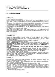 LA PARAPSICOLOGIA e l'UNIVERSITA' CATTOLICA - Laura Maschi