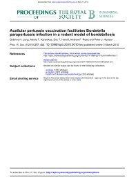 Acellular pertussis vaccination facilitates Bordetella parapertussis ...