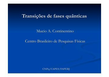 Transições de fases quânticas