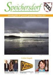 Mitteilungsblatt der Gemeinde Speichersdorf / Februar 2012