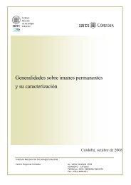 Generalidades sobre Imanes Permanentes y su caracterización - INTI
