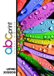 LISTINO 2012/2013 - AbcPrint.it