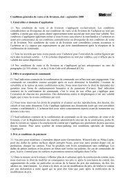 Stelcon Conditions generales de vente et de livraison - BTE Stelcon ...