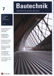 Veröffentlichung Bautechnik - BTE Stelcon Deutschland GmbH