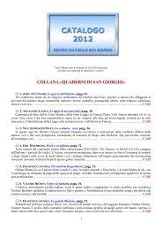 Scarica in formato pdf - Centro Culturale San Giorgio