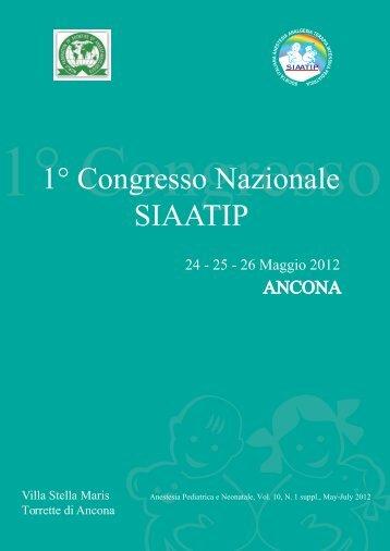 1° Congresso Nazionale SIAATIP - Anestesia Pediatrica e Neonatale