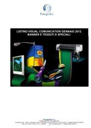 listino visual comunication gennaio 2012 banner e ... - Futurgrafica
