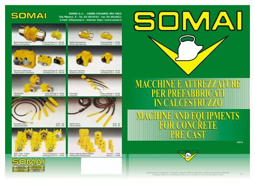 macchine e attrezzature per prefabbricati in calcestruzzo macchine ...