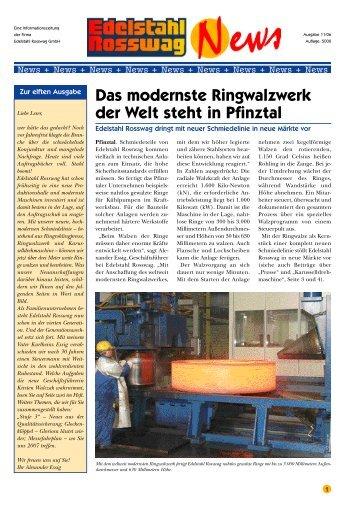 Das modernste Ringwalzwerk der Welt steht in ... - Edelstahl Rosswag