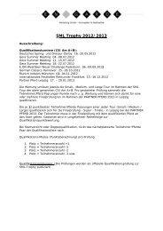 Ausschreibung SML Trophy - En Garde