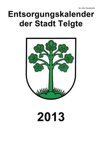 Entsorgungskalender der Stadt Telgte - STENAU Entsorgungs