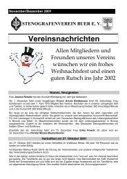 November/Dezember 2001 - Bildungsstätte Emscher-Lippe des ...