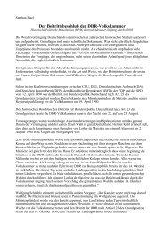 Der Beitrittsbeschluß der DDR-Volkskammer - Stephan Eisel