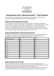 "Manipulation beim ""Bürgerhaushalt"" - Fünf Beispiele - Stephan Eisel"