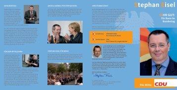 Für Bonn im Bundestag - Stephan Eisel