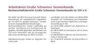 Arbeitskreis Große Schweizer Sennenhunde - SSV