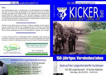 Ausgabe 14 vom 26.02.2012 - SSV 1862 Langburkersdorf