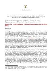 bozza con il programma di lavoro 2006 - Società Botanica Italiana
