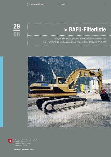 Bafu-Filterliste