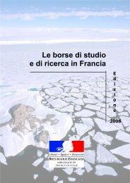 Brochure 2008 sur les bourses d'études en - Università degli studi di ...