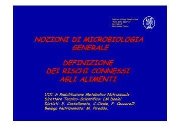 nozioni di microbiologia generale - Istituto Clinico Riabilitativo VILLA ...